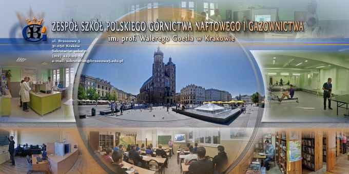 Prezentacja panoramiczna dla obiektu Zespół Szkół Polskiego Górnictwa Naftowego i Gazownictwa