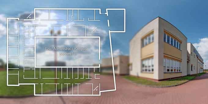 Prezentacja panoramiczna dla obiektu Dział Administracji Kampusu 600-lecia Odnowienia UJ