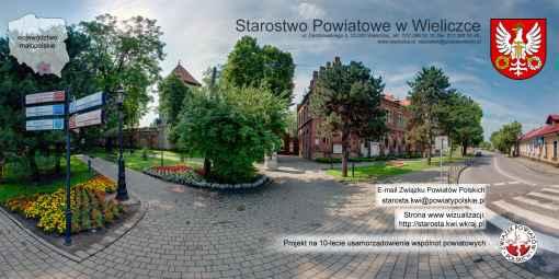 Prezentacja panoramiczna dla obiektu Starostwo Powiatowe w Wieliczce