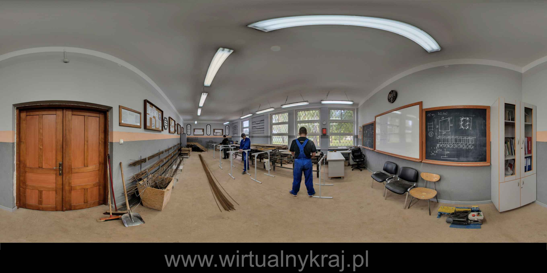 Prezentacja panoramiczna dla obiektu Centrum Kształcenia Praktycznego Wydział Budowlany w Krakowie