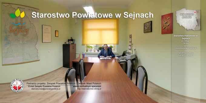Prezentacja panoramiczna dla obiektu Starostwo Powiatowe w Sejnach