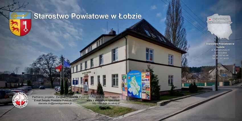 Prezentacja panoramiczna dla obiektu Starostwo Powiatowe w Łobzie