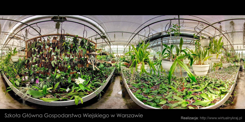 Prezentacja panoramiczna dla obiektu Szklarnie SGGW