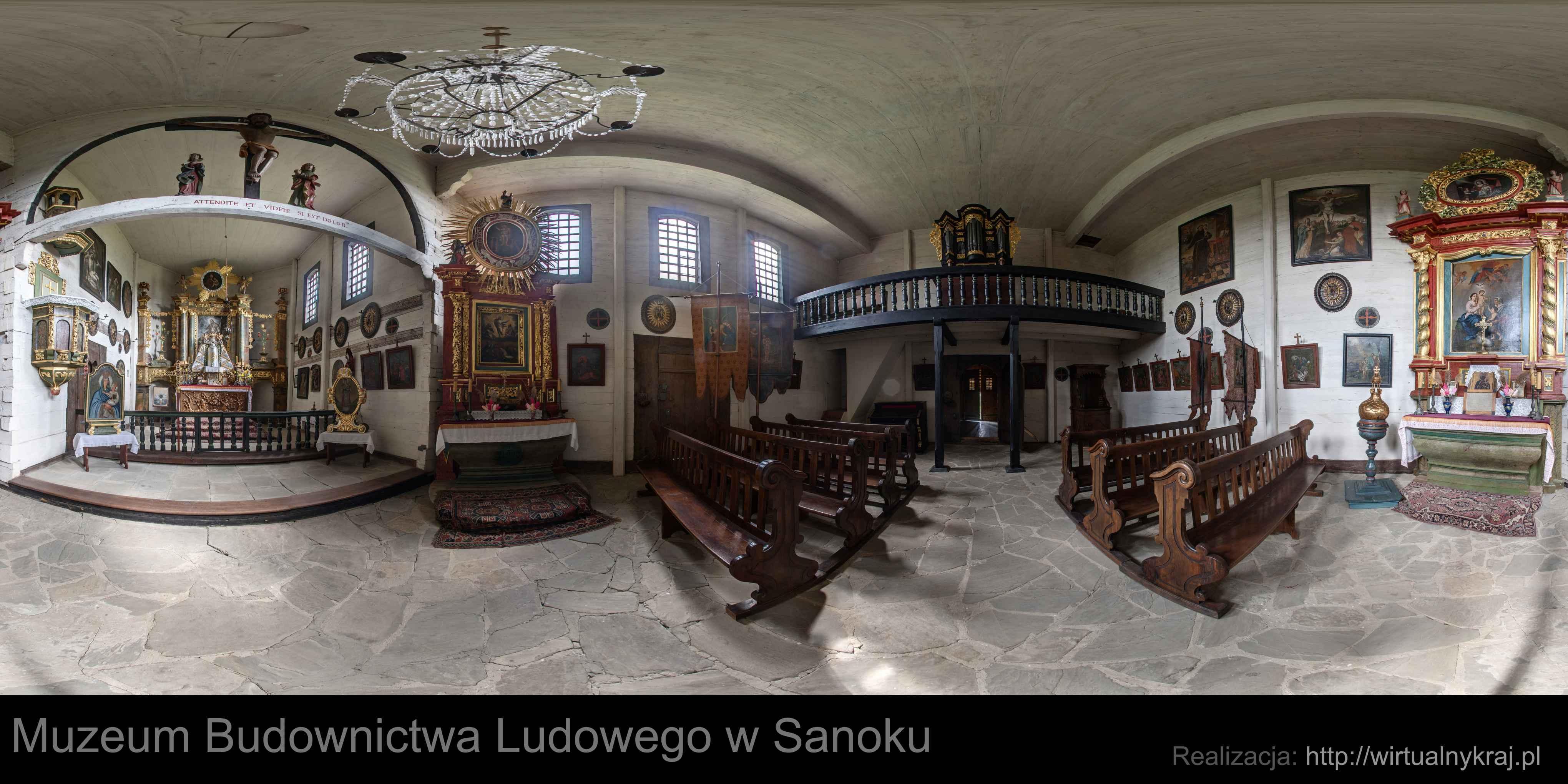 Prezentacja panoramiczna dla obiektu Muzeum Budownictwa Ludowego w Sanoku