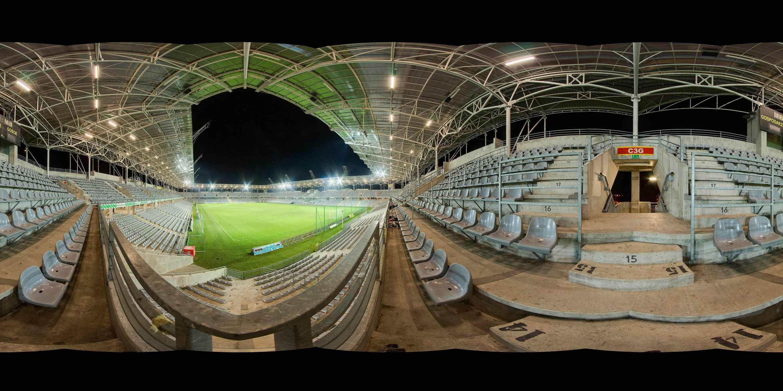 Prezentacja panoramiczna dla obiektu nr. 8 - Zespół Obiektów Sportowych - Stadion Piłkarski - MOSiR