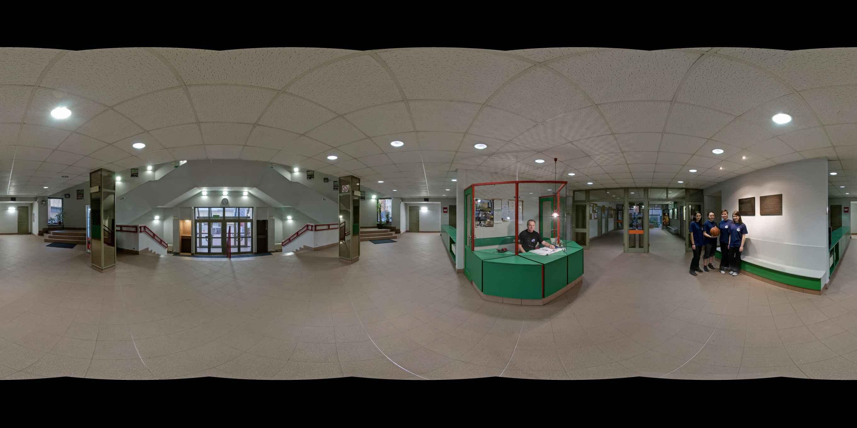 Prezentacja panoramiczna dla obiektu Centrum Sportu i Rekreacji Politechniki Krakowskiej