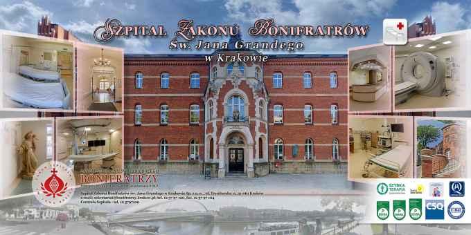 Prezentacja panoramiczna dla obiektu Szpital Zakonu Bonifratrów Św. Jana Grandego - Kraków