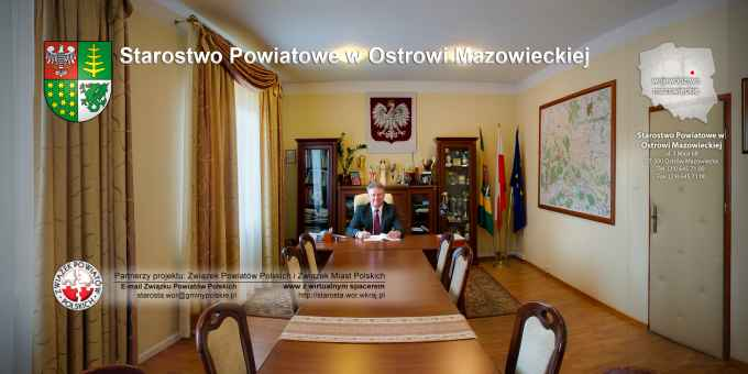 Prezentacja panoramiczna dla obiektu Starostwo Powiatowe w Ostrowi Mazowieckiej
