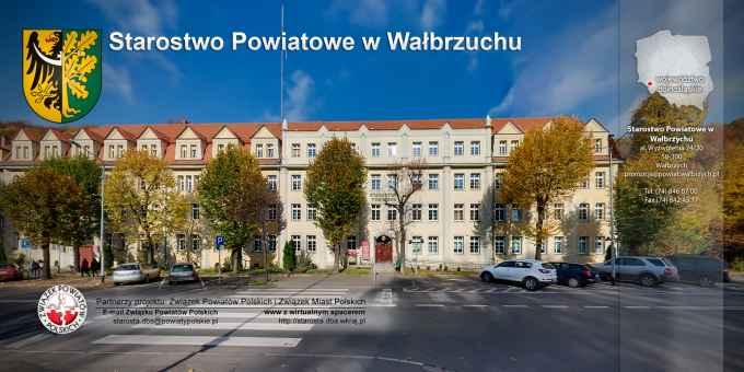 Prezentacja panoramiczna dla obiektu Starostwo powiatowe w Wałbrzychu