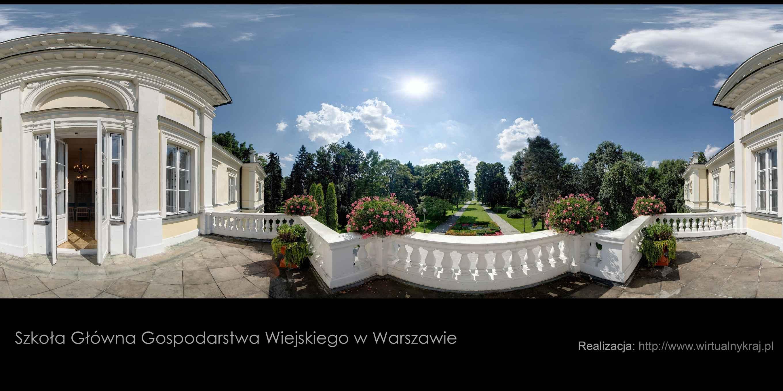 Prezentacja panoramiczna dla obiektu SGGW w Warszawie