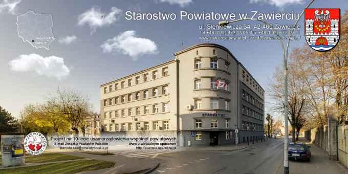 Prezentacja panoramiczna dla obiektu Starostwo Powiatowe w Zawierciu