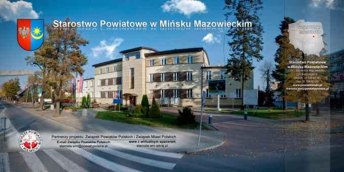 Prezentacja panoramiczna dla obiektu Starostwo Powiatowe w Mińsku Mazowieckim
