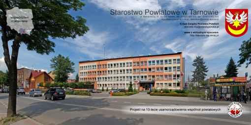 Prezentacja panoramiczna dla obiektu Starostwo Powiatowe w Tarnowie