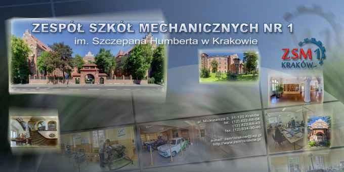 Prezentacja panoramiczna dla obiektu Zespół Szkół Mechanicznych nr 1 im. Szczepana Humberta w Krakowie