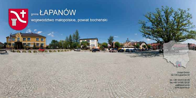 Prezentacja panoramiczna dla obiektu gmina ŁAPANÓW