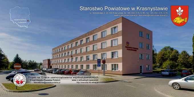 Prezentacja panoramiczna dla obiektu Starostwo Powiatowe w Krasnystawie