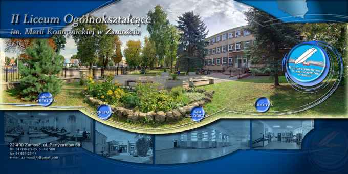 Prezentacja panoramiczna dla obiektu II Liceum Ogólnokształcące im. Marii Konopnickiej w Zamościu