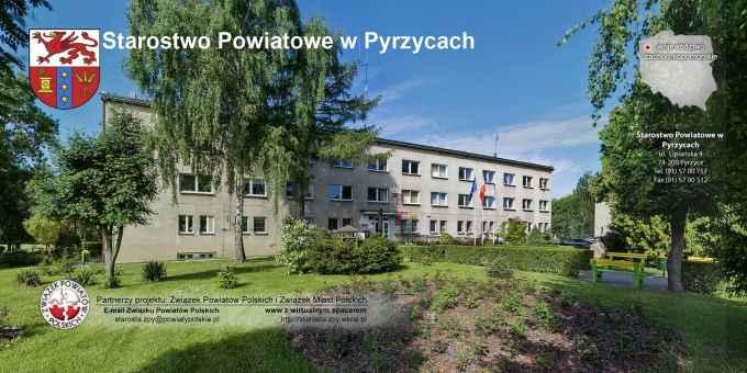 Prezentacja panoramiczna dla obiektu Starostwo Powiatowe w Pyrzycach