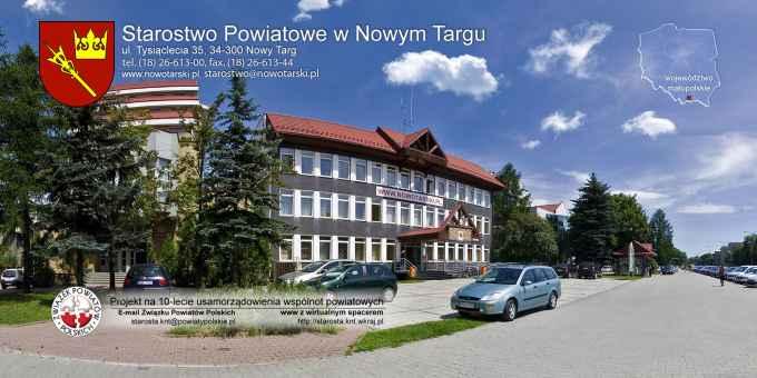 Prezentacja panoramiczna dla obiektu Starostwo Powiatowe w Nowym Targu