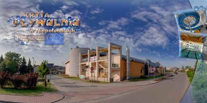Prezentacja panoramiczna dla obiektu Kryta Pływalnia w Niepołomicach