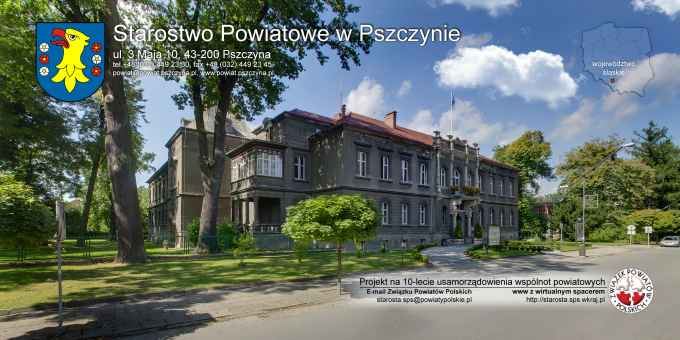 Prezentacja panoramiczna dla obiektu Starostwo Powiatowe w Pszczynie