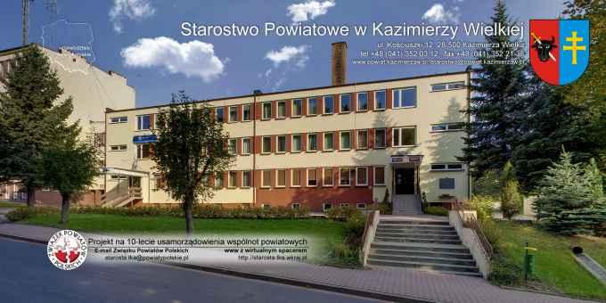 Prezentacja panoramiczna dla obiektu Starostwo Powiatowe w Kazimierzy Wielkiej