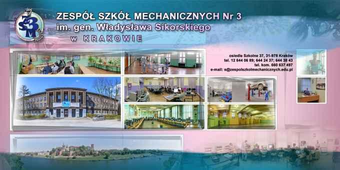Prezentacja panoramiczna dla obiektu Technikum Mechaniczne Zespołu Szkół Mechanicznych nr 3