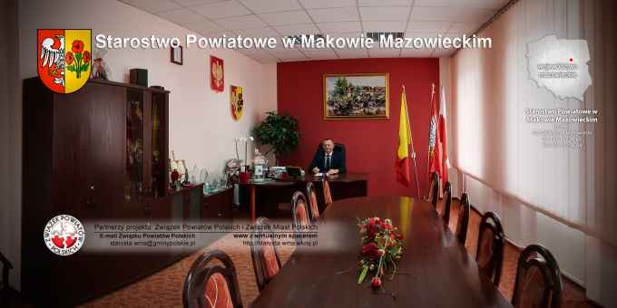 Prezentacja panoramiczna dla obiektu Starostwo Powiatowe w Makowie Mazowieckim