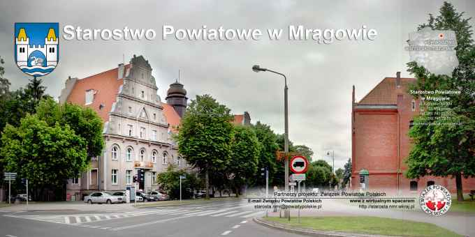 Prezentacja panoramiczna dla obiektu Starostwo Powiatowe w Mrągowie